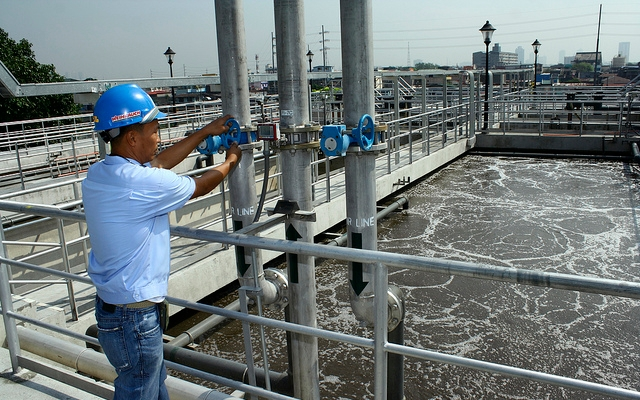 Waste water treatment facility in Manila, Philippines