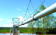 Pipeline over a river